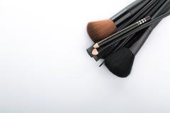 Kosmetyczny krzak ustawiający dla makeup twój twarz Obraz Stock