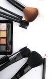 Kosmetyczny krzak ustawiający dla makeup twój twarz Fotografia Stock