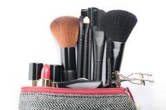 Kosmetyczny krzak ustawiający dla makeup twój twarz Obrazy Royalty Free