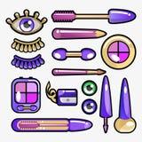 kosmetyczny oka ikony set Zdjęcia Royalty Free