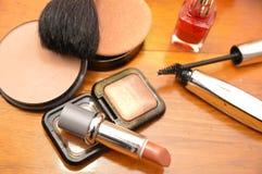 Kosmetyków akcesoriów kobiety Zdjęcie Royalty Free