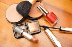 Kosmetyków akcesoriów kobiety Obraz Royalty Free
