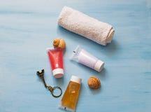 Kosmetyków pakunków projekta piękna produkty Kolekcja kosmetyk tubki dla zdrojów traktowań zdjęcie stock