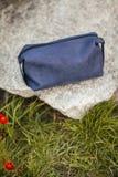 Kosmetyk torba na kamieniu Naturalny produkt od skóry Obrazy Royalty Free