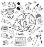 Kosmetyk ustawiający rysunek Zdjęcia Royalty Free