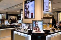 Kosmetyka butika wnętrze Fotografia Stock