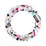 Kosmetyka makijażu piękna akcesoria ilustracyjni Zdjęcie Royalty Free