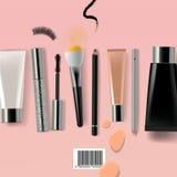 kosmetyka szczotkarski makeup Fotografia Royalty Free