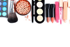 kosmetyka szczotkarski makeup Zdjęcie Stock