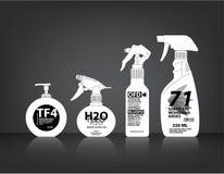 Kosmetyki Butelkują Pakować wektor Obraz Stock