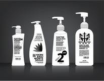 Kosmetyki Butelkują Pakować wektor Fotografia Stock