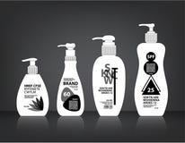 Kosmetyki Butelkują Pakować wektor Obraz Royalty Free
