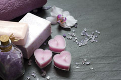 Kosmetyki dla ciało opieki i zdroju abstrakta Zdjęcie Stock