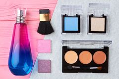Kosmetyki i makeup, pachnidło fotografia royalty free