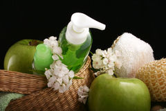 kosmetyki jabłko Zdjęcie Royalty Free