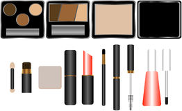 kosmetyki ustawiający Zdjęcie Royalty Free