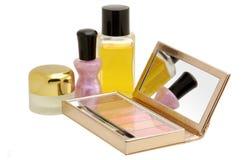 kosmetyki ustawiający Zdjęcia Royalty Free
