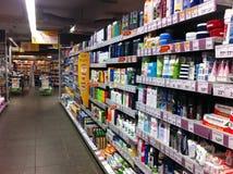 Kosmetyki w supermarkecie obraz royalty free