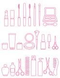 Kosmetyki wykładają ikona set royalty ilustracja