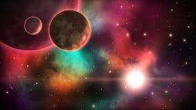 kosmiczny widok pętla royalty ilustracja