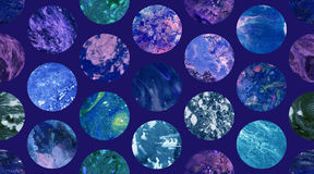 Kosmisch Document Marmeren Behang Naadloos Patroon vector illustratie