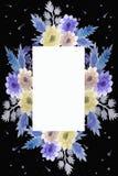 Kosmisch kader met bloemen vector illustratie