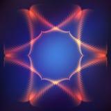 Kosmisch kader op purpere vage achtergrond Stock Afbeeldingen