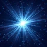 Kosmisch uitstralings fijn licht vector illustratie