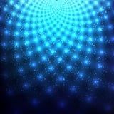 Kosmische blauwe abstracte achtergrond Royalty-vrije Stock Afbeelding