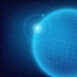 Kosmische blauwe achtergrond Stock Foto