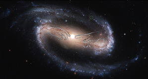 Kosmische Energie der Gottfingerspitze Stockfotografie