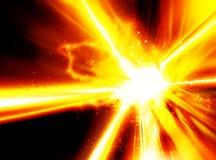 Kosmische Explosieeffect Stijlachtergrond Stock Foto