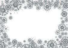 Kosmische grayscaleachtergrond Royalty-vrije Stock Afbeeldingen