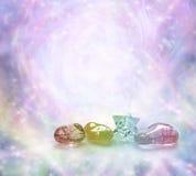 Kosmische heilende Kristalle Stockfoto