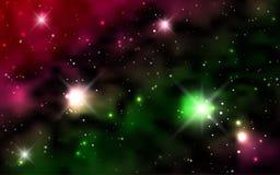 Kosmische Hintergrundgalaxien, Nebelfleck und glänzende Sterne Stockfoto