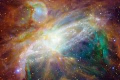 Kosmische Landschaft, ehrfürchtige Zukunftsromantapete vektor abbildung