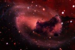 Kosmische Landschaft, ehrfürchtige Zukunftsromantapete stock abbildung