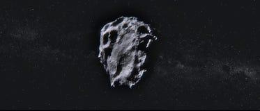Kosmische meteoriet op een sterrige achtergrond royalty-vrije stock foto