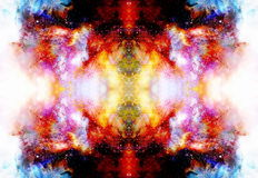Kosmische ruimte en sterren, kosmisch abstract achtergrond en glaseffect De ruimte van het exemplaar vector illustratie