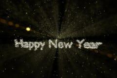 Kosmische ruimte Gelukkig Nieuwjaar Stock Afbeelding