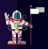 Kosmische ruimte Illustratie in vlakke stijl royalty-vrije illustratie