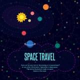 Kosmische ruimte Patroontextuur in vlakke stijl Royalty-vrije Stock Foto
