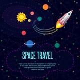Kosmische ruimte Patroontextuur in vlakke stijl Stock Foto