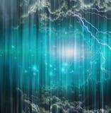 Kosmische Scène op Gordijn Stock Afbeeldingen