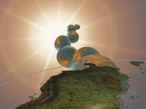 Kosmische stralen stock illustratie