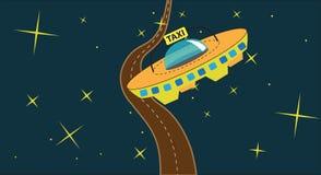 Kosmische taxi Royalty-vrije Stock Afbeeldingen