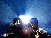 Kosmische Transformation lizenzfreie abbildung