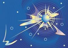 Kosmische vector als achtergrond. Stock Fotografie