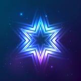 Kosmischer glänzender Vektorzusammenfassungsstern Lizenzfreie Stockfotografie
