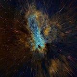 Kosmischer Hintergrund der bunten Galaxiezusammenfassung Glänzendes Fantasieuniversum Tiefer Kosmos Unendlichkeitserforschung Abb Stockfotos
